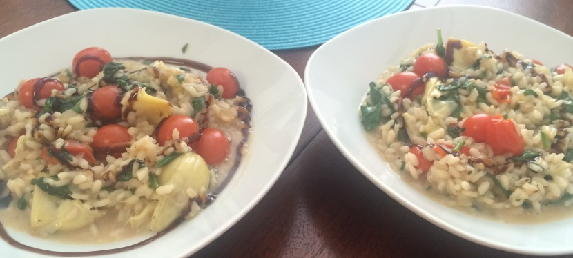 Meatless Monday: Spinach, Artichoke, and Tomato Risotto