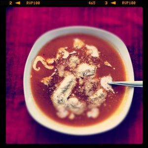 An old Instagram shot of this soup without the orzo. Still awesome! <3