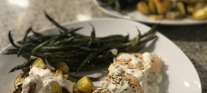 Easy One-Pan Lemon Salmon Dinner